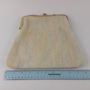 Vintage Corde Bead Pastel Evening Purse Handbag